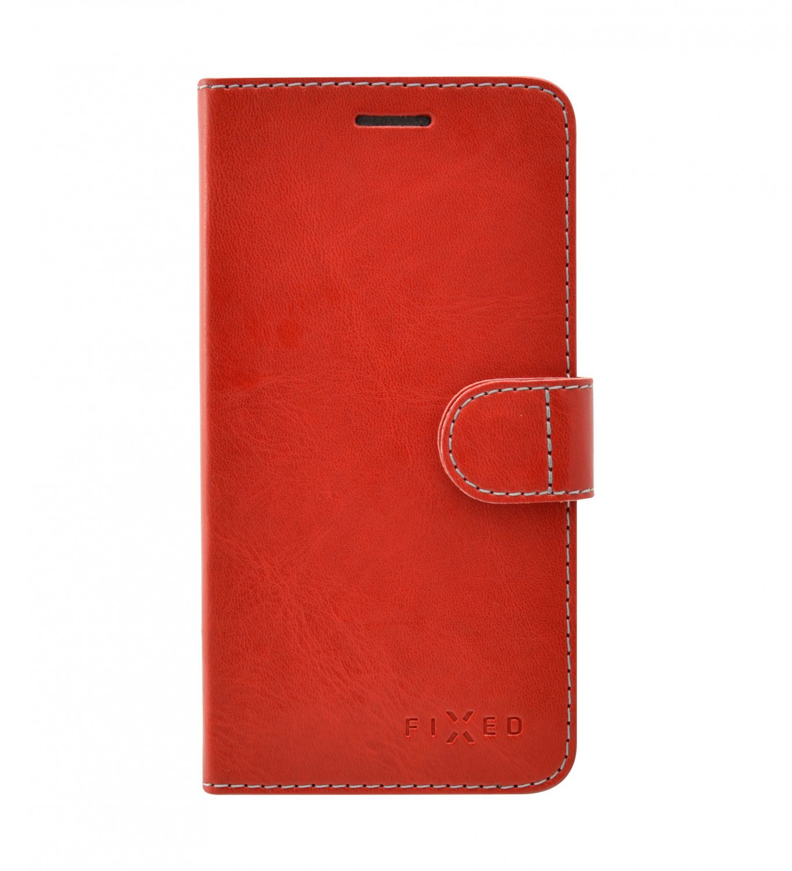 Flipové puzdro FIXED FIT pre Apple iPhone 13 mini, červená