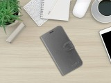 Flipové puzdro FIXED FIT Shine pre Apple iPhone 13 mini, antracitová