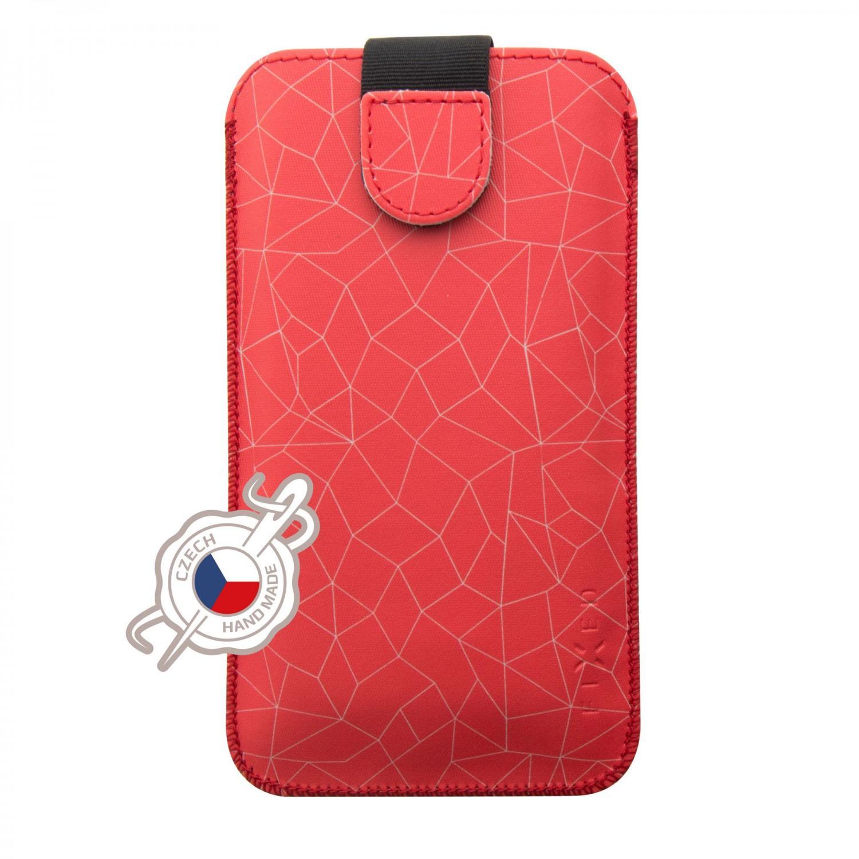 Puzdro FIXED Soft Slim veľkosť 6XL +, motív Red Mesh