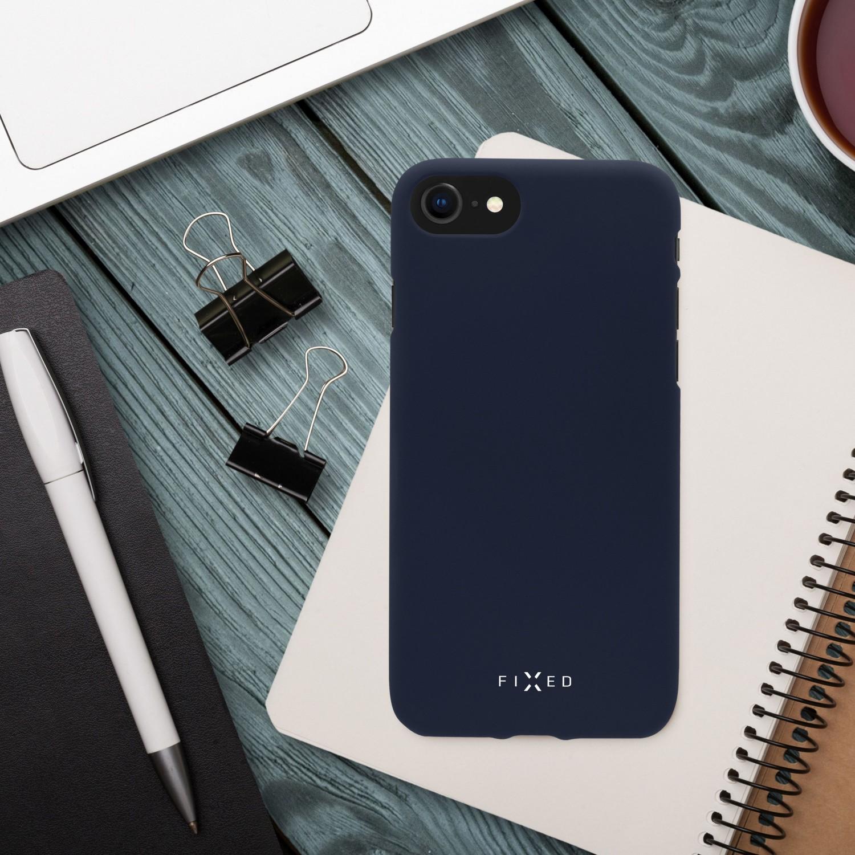 Zadný pogumovaný kryt FIXED Story pre Apple iPhone 13 mini, modrá
