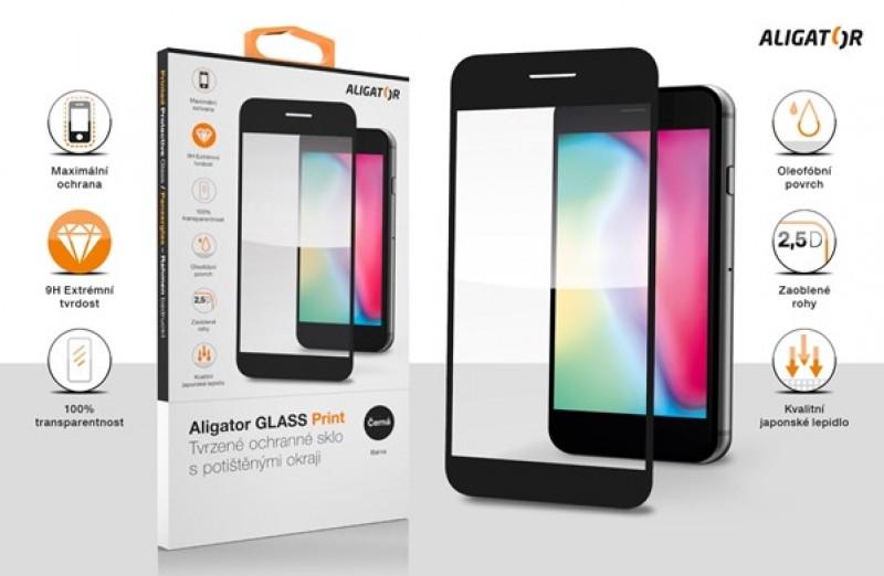 Ochranné tvrzené sklo ALIGATOR PRINT pro Motorola Edge Lite, černá