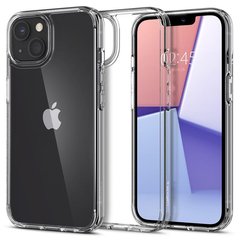Ochranný kryt Spigen Crystal Hybrid crystal clear pro Apple iPhone 13 mini, transparentní