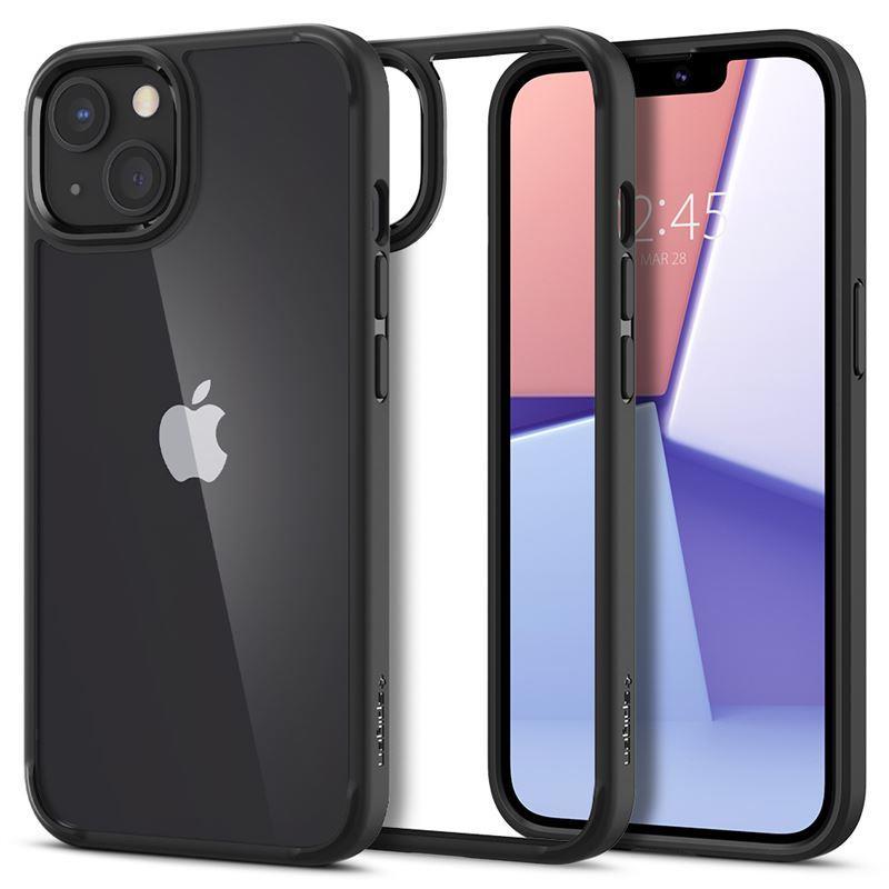 Ochranný kryt Spigen Crystal Hybrid matte black pro Apple iPhone 13 mini, transparentní
