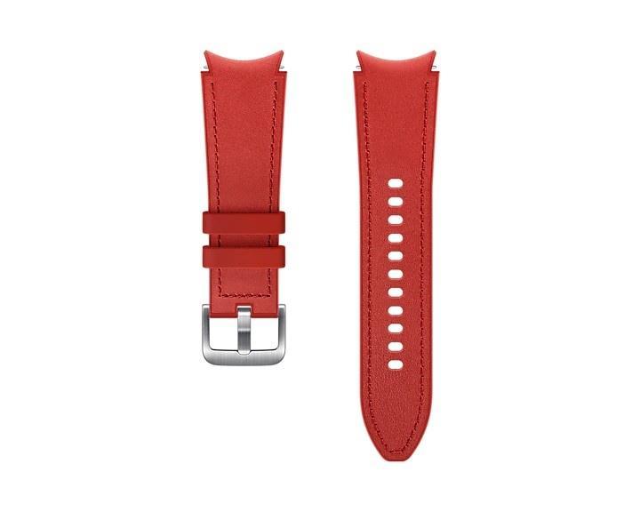 Hybridní kožený řemínek Samsung ET-SHR89LREGEU, velikost M/L 20mm, červená