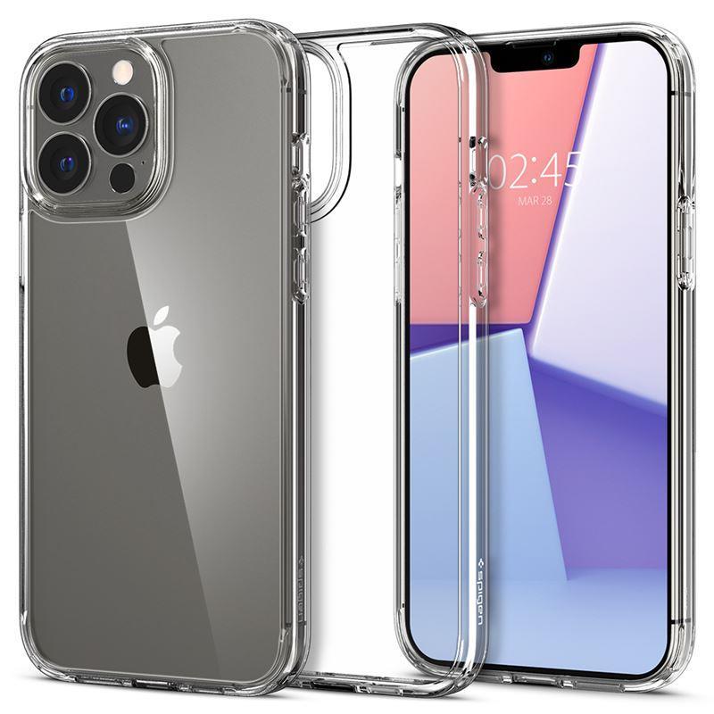 Ochranný kryt Spigen Ultra Hybrid crystal clear pro Apple iPhone 13 Pro, transparentní