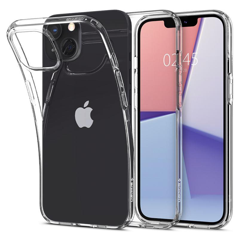 Ochranný kryt Spigen Liquid Crystal crystal clear pro Apple iPhone 13 mini, transparentní