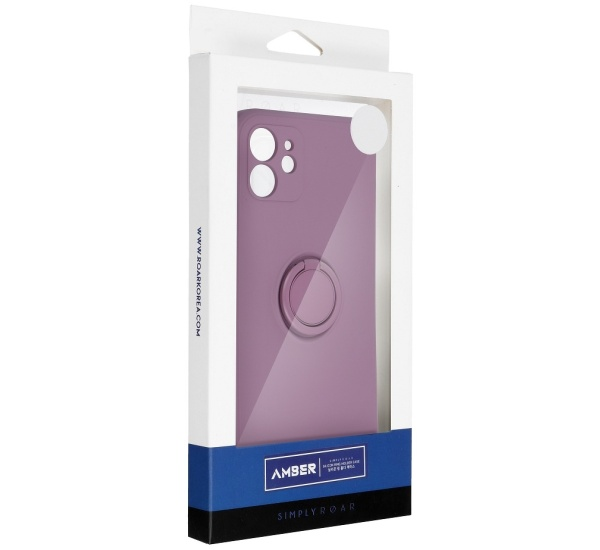 Zadní kryt Roar Amber pro Apple iPhone 12 Pro, fialová
