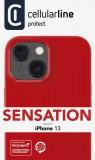 Silikonový kryt Cellularline Sensation pro Apple iPhone 13, červená
