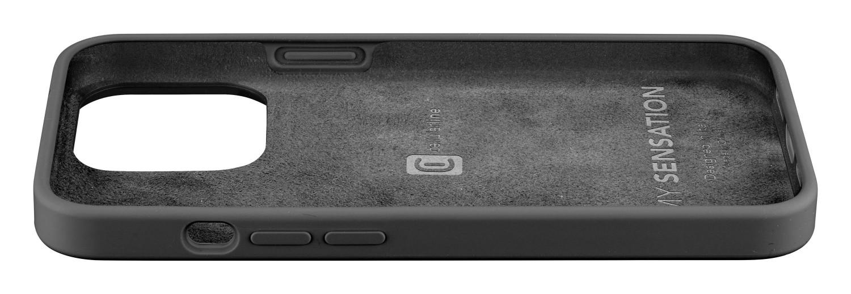 Silikonový kryt Cellularline Sensation pro Apple iPhone 13, černá