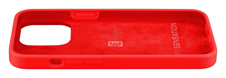 Silikonový kryt Cellularline Sensation pro Apple iPhone 13 Mini, červená