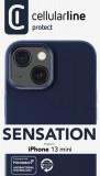 Silikonový kryt Cellularline Sensation pro Apple iPhone 13 Mini, modrá