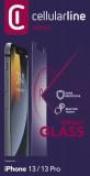 Tvrzené sklo Cellularline Second Glass Ultra pro Apple iPhone 13/13 Pro