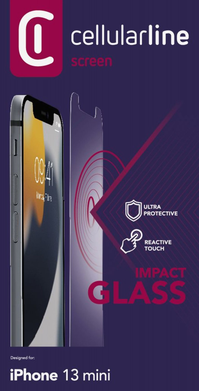 Tvrzené sklo Cellularline Second Glass Ultra pro Apple iPhone 13 Mini