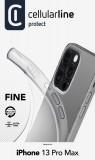 CellularLine Fine extratenký zadní kryt pro Apple iPhone 13 Pro Max, transparentní