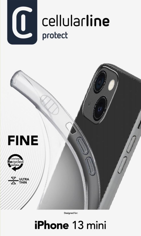 CellularLine Fine extratenký zadní kryt pro Apple iPhone 13 Mini, transparentní