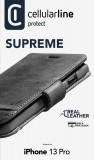 Cellularine Supreme flipové pouzdro pro Apple iPhone 13 Pro, černá