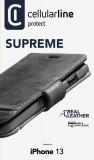 Cellularine Supreme flipové pouzdro pro Apple iPhone 13, černá