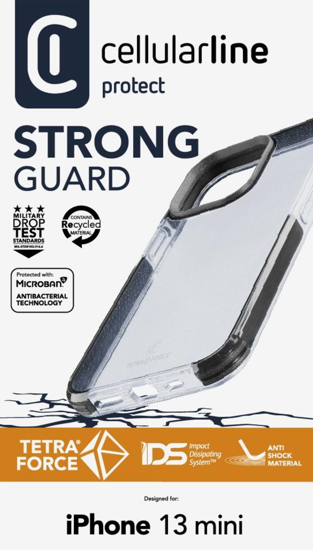 Cellularline Tetra Force Shock-Twist pouzdro pro Apple iPhone 13 Mini, transparentní