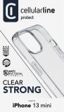 Zadní kryt Cellularline Clear Duo pro Apple iPhone 13 Mini, transparentní