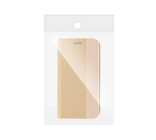 Flipové pouzdro SENSITIVE pro Samsung Galaxy A22 5G, zlatá