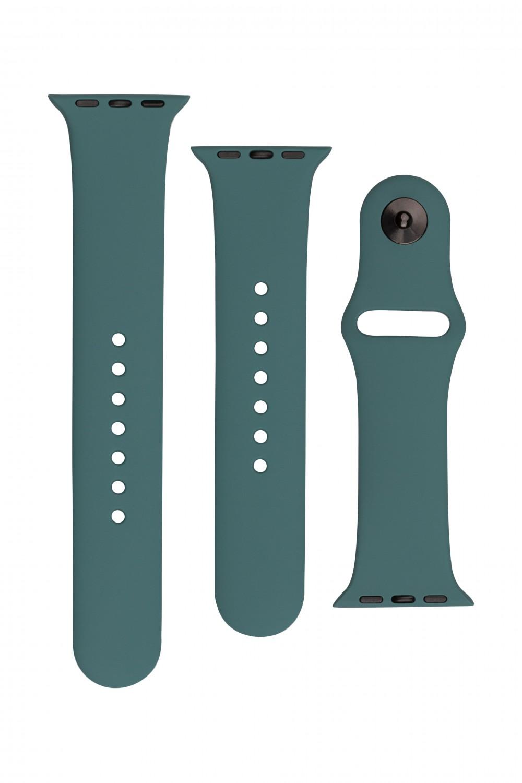 Set silikonových řemínků FIXED Silicone Strap pro Apple Watch 42/44/45 mm, zelenomodrá