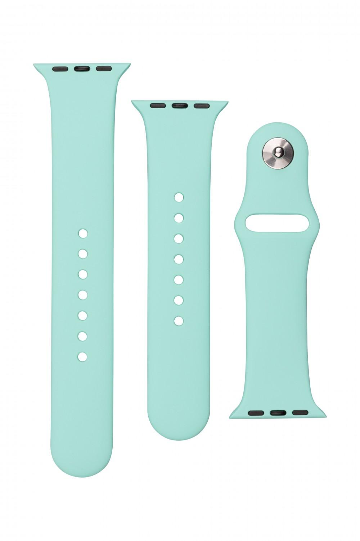 Set silikonových řemínků FIXED Silicone Strap pro Apple Watch 42/44/45 mm, sytě zelená