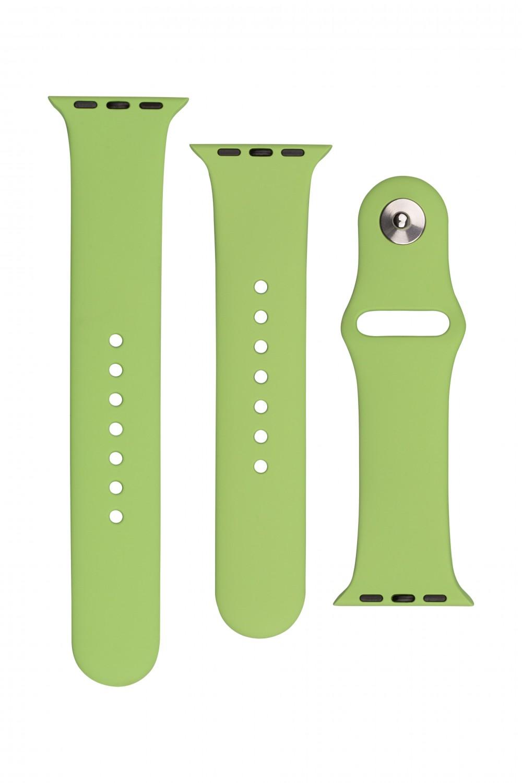 Set silikonových řemínků FIXED Silicone Strap pro Apple Watch 42/44/45 mm, mentolová