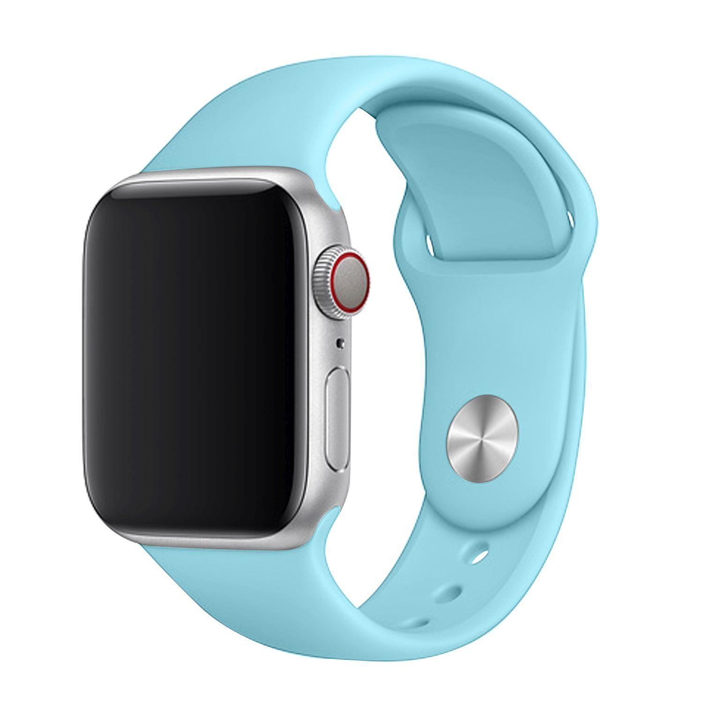 Set silikonových řemínků FIXED Silicone Strap pro Apple Watch 42/44/45 mm, tyrkysová