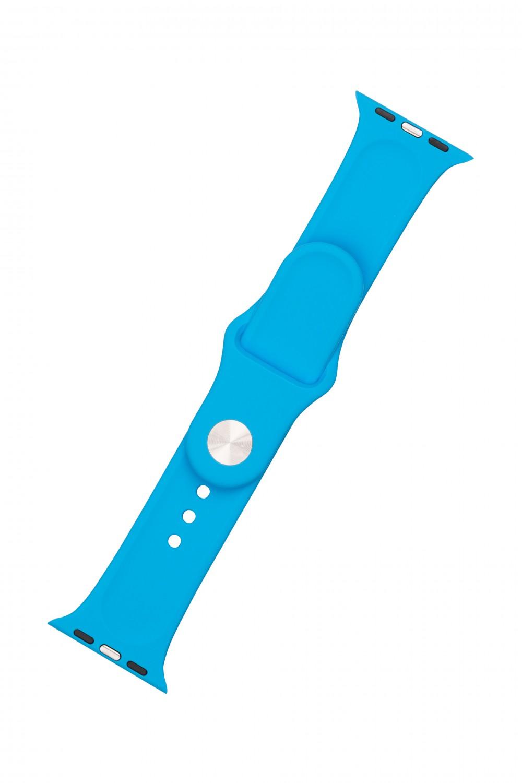 Set silikonových řemínků FIXED Silicone Strap pro Apple Watch 42/44/45 mm, sytě modrá