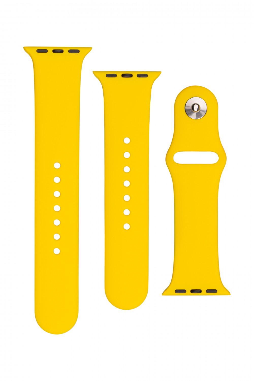 Set silikonových řemínků FIXED Silicone Strap pro Apple Watch 42/44/45 mm, žlutá