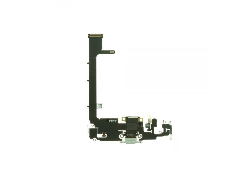 Charging Dock Connector Flex + Board Silver Pre Apple iPhone 11 Pro Max (Genuine)