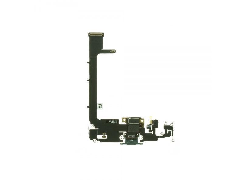 Charging Dock Connector Flex + Board Dark Green Pre Apple iPhone 11 Pro Max (Genuine)