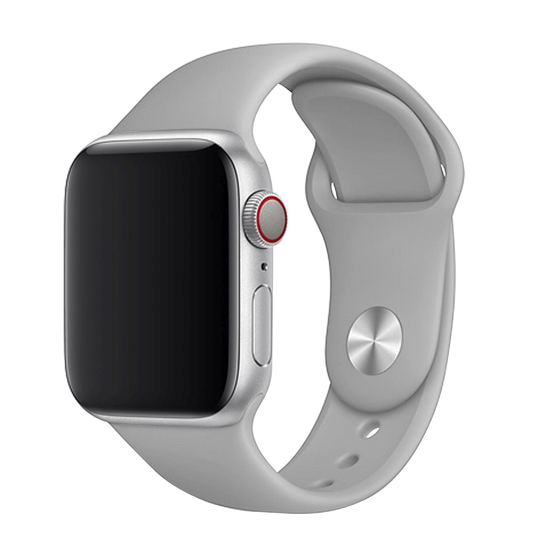 Set silikonových řemínků FIXED Silicone Strap pro Apple Watch 38/40/41 mm, světle šedá