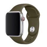 Set silikonových řemínků FIXED Silicone Strap pro Apple Watch 38/40/41 mm, olivová