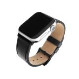 Kožený řemínek FIXED Leather Strap pro Apple Watch 42mm/44mm, černá