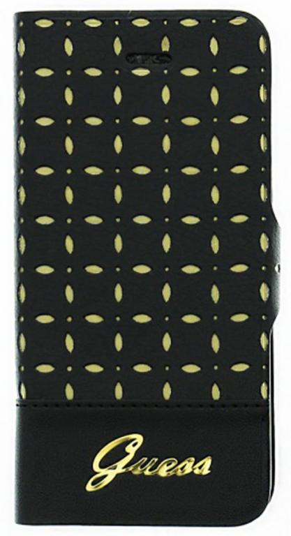 Flipové pouzdro Guess GUFLBKP4PEB pro Apple iPhone 4/4S, černá