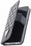 Flipové pouzdro Guess GUFLBKP4STB pro Apple iPhone 4/4S, černá/zlatá