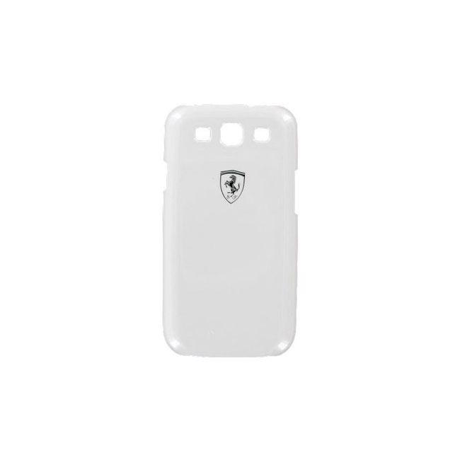 Zadní kryt Ferrari pro Samsung Galaxy S III, bílá