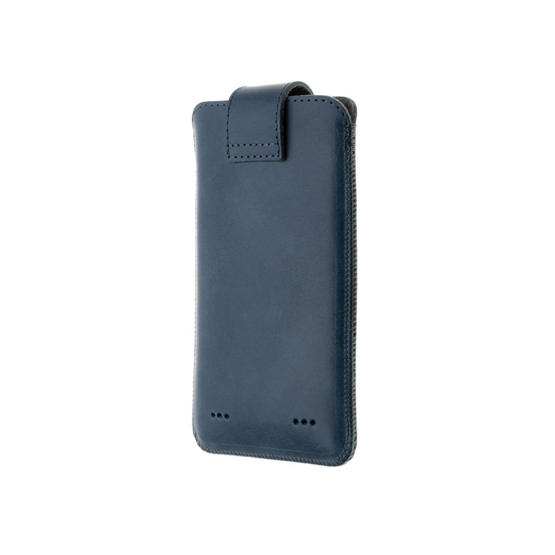 Kožené pouzdro FIXED Posh, velikost 6XL+, modrá