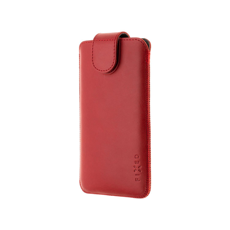 Kožené pouzdro FIXED Posh, velikost 6XL+, červená