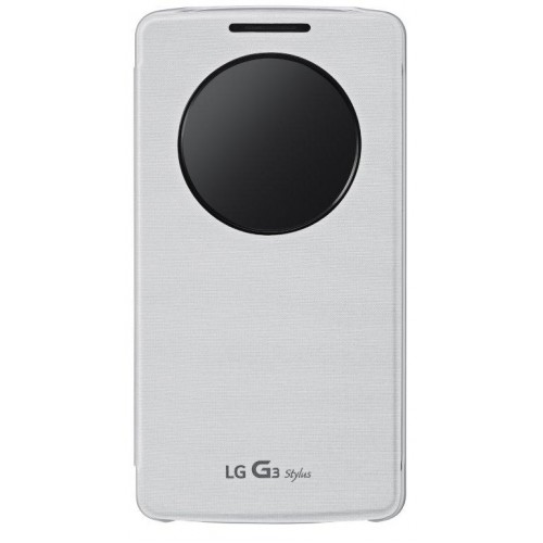 Originální pouzdro QuickCircle pro LG G3 Stylus bílé