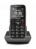 Evolveo EasyPhone Black s nabíjecím stojánkem