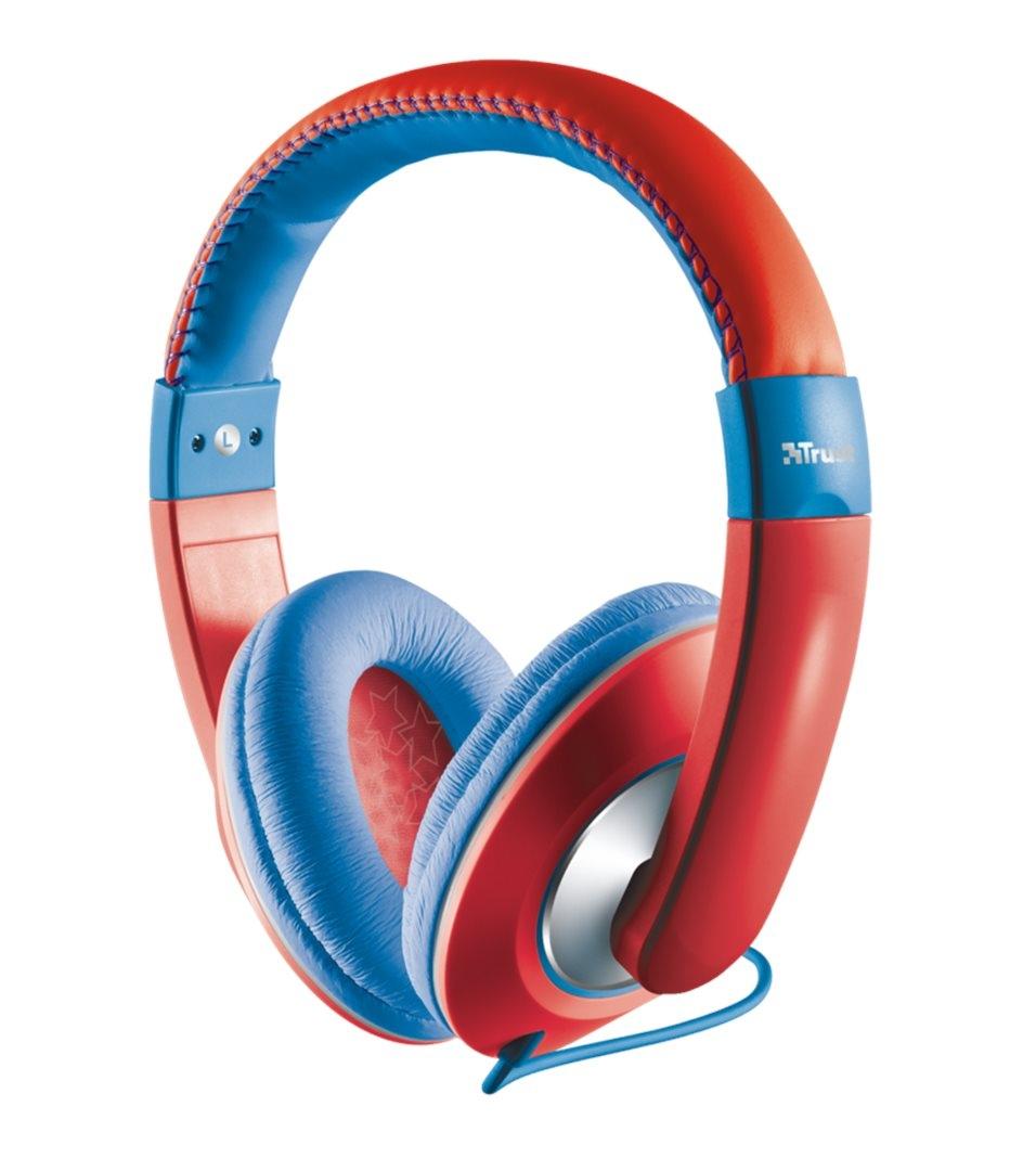 Dětská sluchátka TRUST Sonin Headphone červené