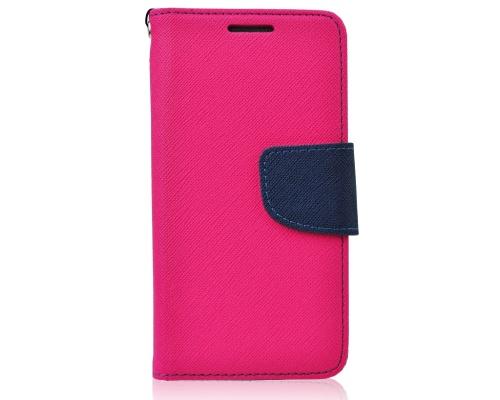 Pouzdro Fancy Diary Folio pro LG K10 (K420N) růžovo-modrá (BULK)