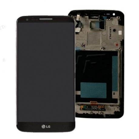 LCD display, dotyk. deska a rámeček pro LG G2 (D802) OEM, black