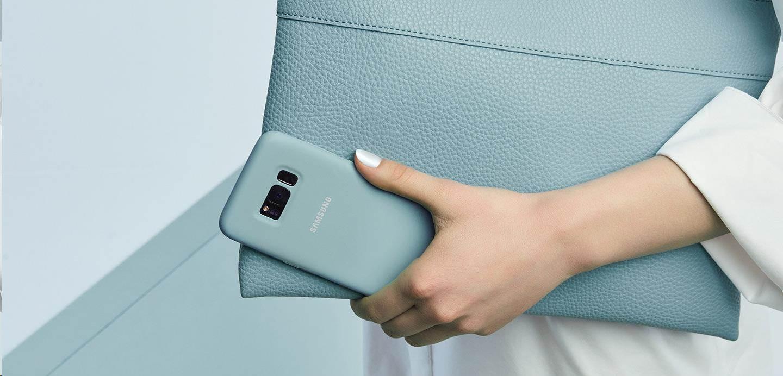 Samsung silikonový obal EF-PG955TLE pro Galaxy S8 Plus, blue