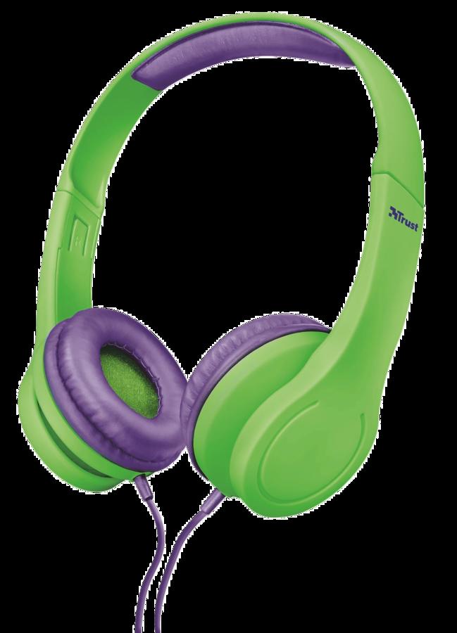 TRUST Bino Kids Headphones dětská sluchátka green