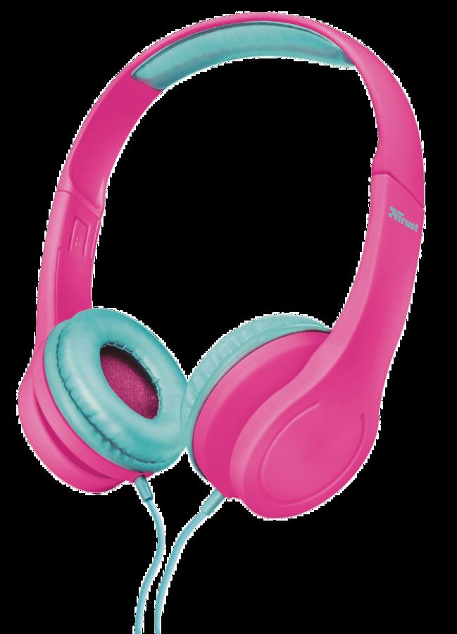 TRUST Bino Kids Headphones dětská sluchátka pink