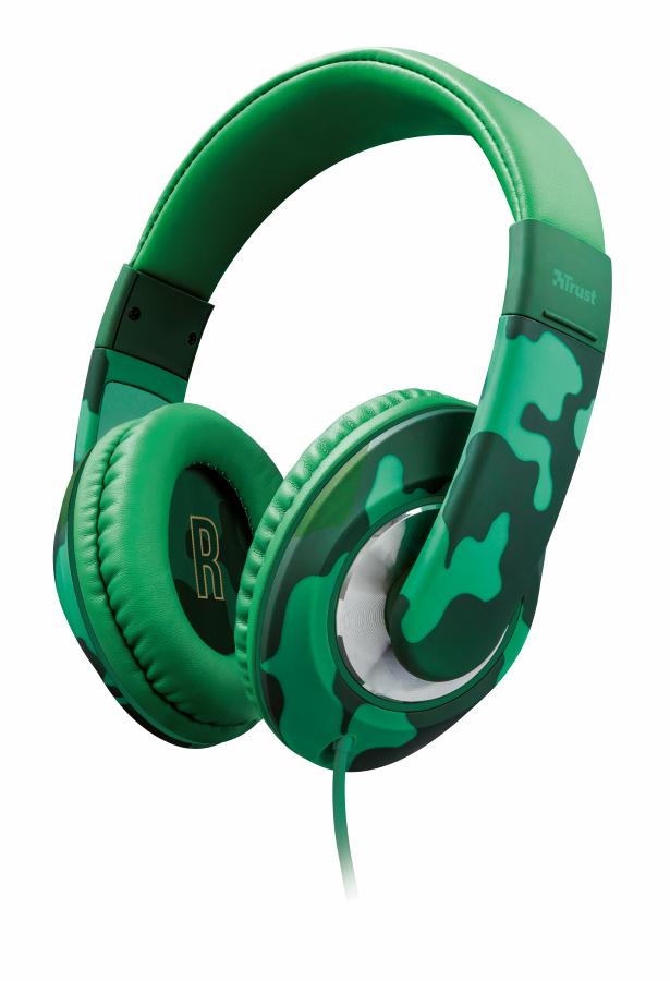 TRUST Sonin Kids Headphone dětská sluchátka jungle camo