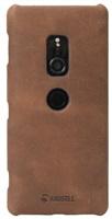 Krusell zadní kryt SUNNE pro Sony Xperia XZ2, koňaková